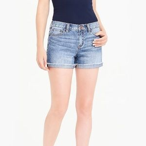 "J. Crew denim cutoff shorts Irvine wash 10"" rise"
